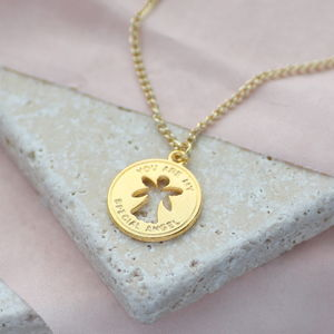 Child's Special Angel Birthstone Necklace - personalised