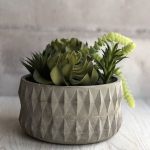 Artificial Mixed Succulent Bowl - the greenhouse edit
