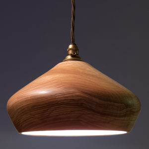 Soft Close Wooden Ceiling Pendant Light - living room