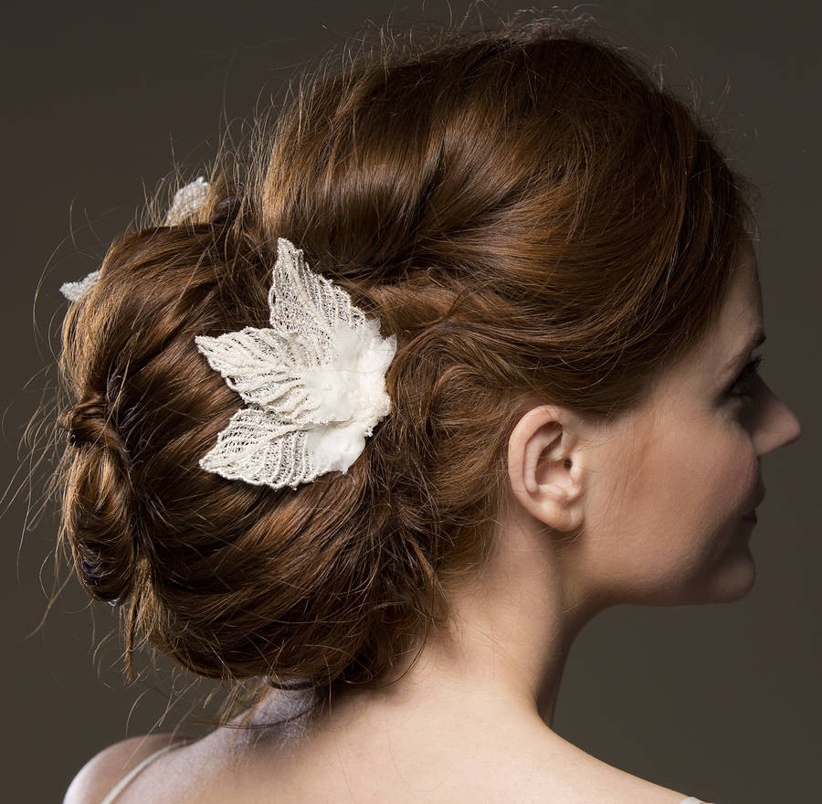 Aphrodite Silver Leaves Bridal Comb