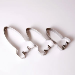 Set Of Three Space Rocket Cookie Cutters