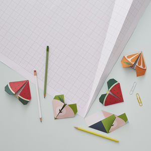 Origami Notepaper Set : Fruit - notelets