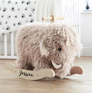 Personalised Rocking Mammoth - gifts for babies