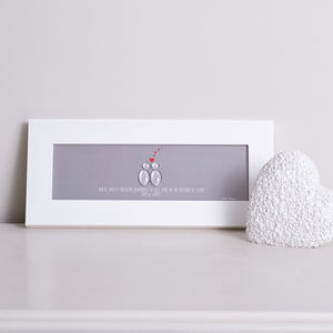Personalised Glass People Floating Hearts