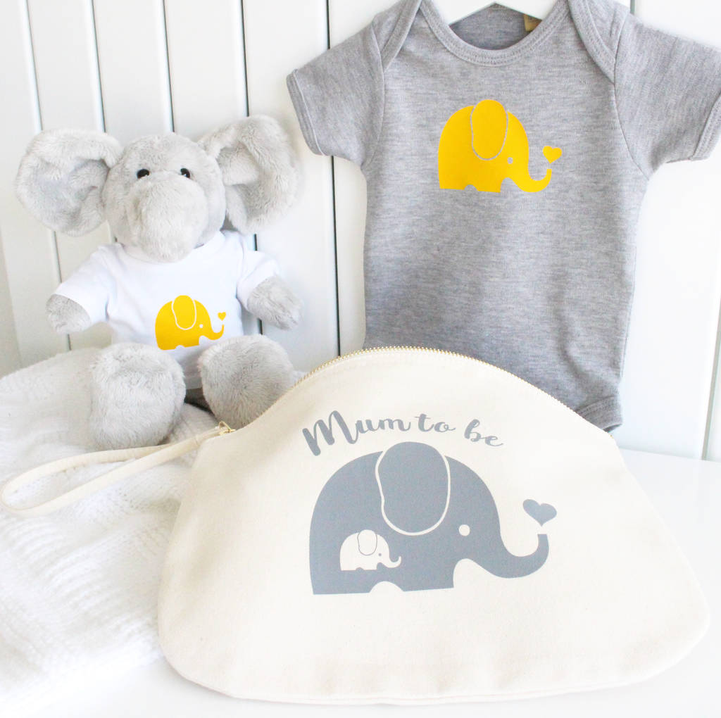 New mum and baby elephant gift set by precious little plum new mum and baby elephant gift set negle Images