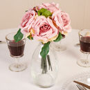 Large Artifical Hybrid Blush Pink Tea Rose Bouquet