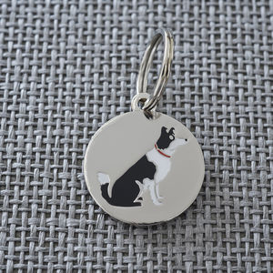 Border Collie Dog ID Name Tag - dogs
