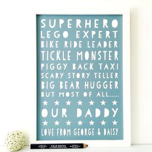 Personalised Father's Day / Birthday Print - father's day gifts