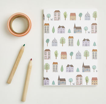 A6 Town Houses Notebook
