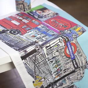 Piccadilly Circus Tea Towel