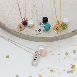 Personalised Birthstone Necklace - precious gemstones