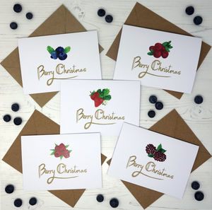 'Berry Christmas' Greetings Card