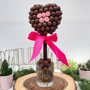 Pink Rose Malteser Heart Tree - chocolates & confectionery