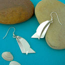 Sail Sailing Silver Earrings