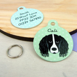 Springer Spaniel Pet ID Tag - pet tags & charms