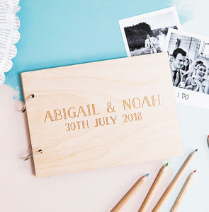 Personalised Wedding Wishes Guest Book - personalised