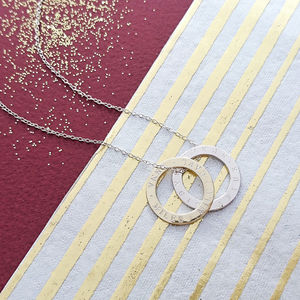 Personalised Mixed Rings Message Necklace