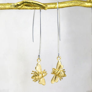 Bee Gold Drop Earrings - view all new