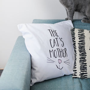 'Cat's Mother' Cushion - bedroom