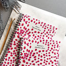 Orchid Print Pink Dotty Personalised Notebook