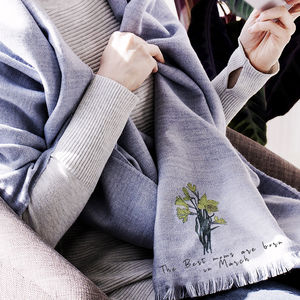 Personalised Choose Your 'Birth Flower' Scarf