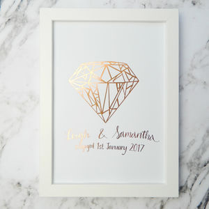 Personalised Copper Foil Engagement Gift - personalised