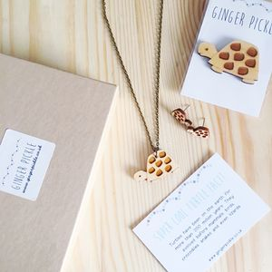 Wooden Animal Jewellery Gift Set Mix And Match