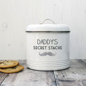 Personalised Biscuit Stache Tin