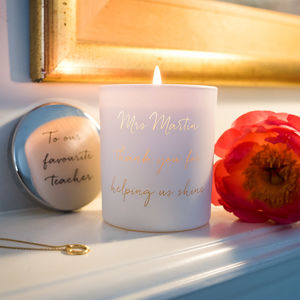 Personalised Thank You Teacher Candle - gifts for teachers