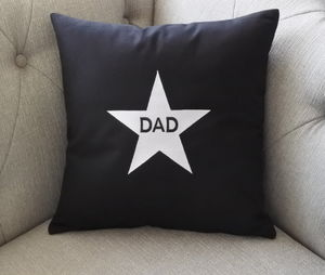 Dad Star Embroidered Cushion