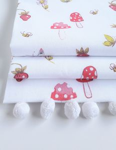 Fairytale Roman Blind With Pom Pom Trim - bedroom