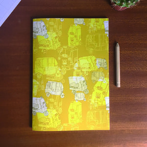 Tuk Tuk Print Notebook