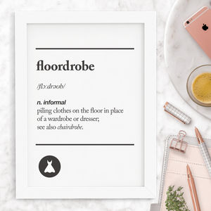 'Floordrobe' Typography Print - winter sale