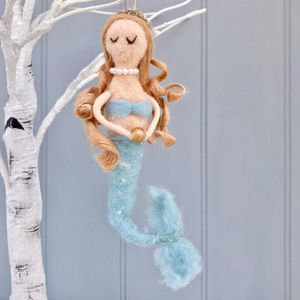 Christmas Decoration Felt Mermaid - new in christmas