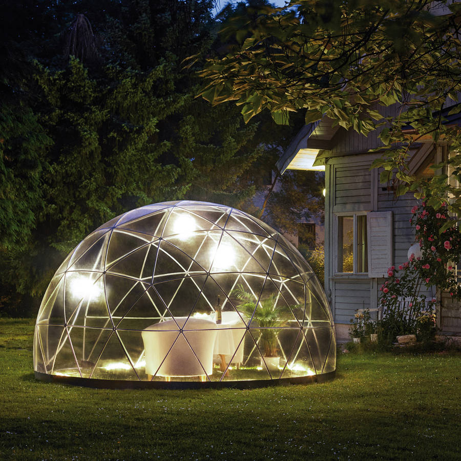 garden igloo 360 dome with optional canopy cover by cuckooland. Black Bedroom Furniture Sets. Home Design Ideas