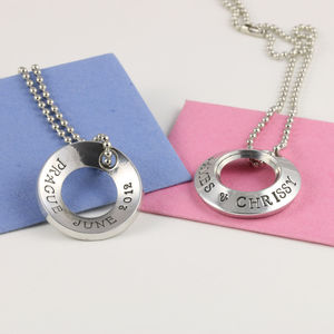 Personalised Chunky Pewter Ring Pendant - necklaces & pendants