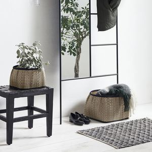 Set Of Two Patterned Square Baskets