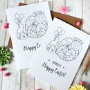 Personalised Illustrated Happy Easter Card
