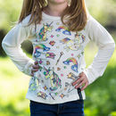 Personalised Unicorn Colour In Top With Fabric Pens