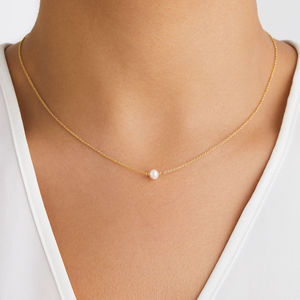 Rose, Silver Or Gold Single Pearl Choker Necklace - jewellery gifts for bridesmaids