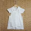 Boys French Designer Baby Boy Christening Two Piece Set