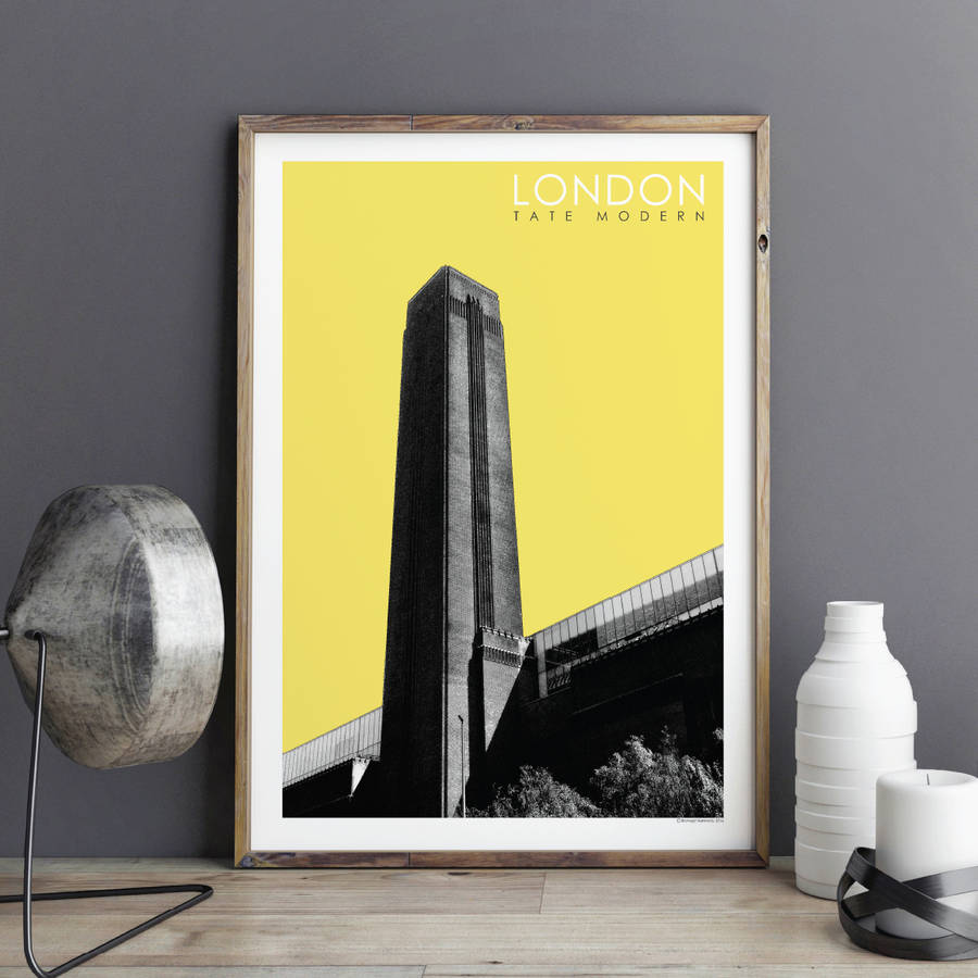 london wall art prints tate modern by bronagh kennedy - art prints ...