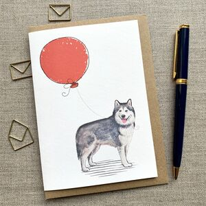 Personalised Alaskan Malamute Birthday Card