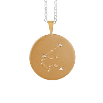 Constellation Necklace With Diamonds Aquarius Star Sign