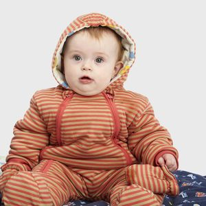 Khaki And Coral Pramsuit - clothing