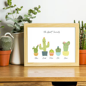 Personalised Cactus Family Print