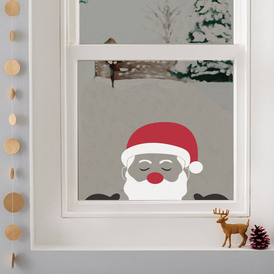 peeping santa window sticker by nutmeg ...