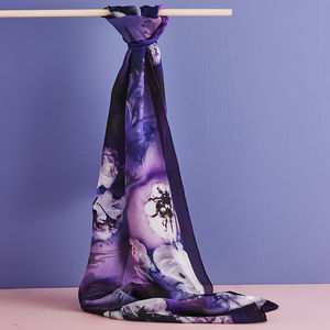 Silk Scarf Inspired By Poetry - gifts for her