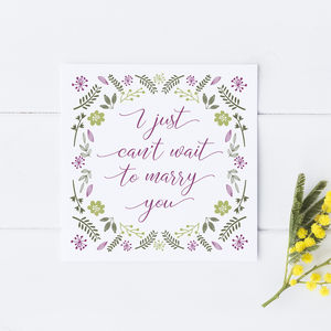 'Can't Wait To Marry You' Wedding Day Card