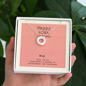 Sterling Silver Happy 60th Birthday Necklace
